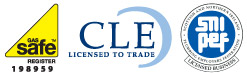 Alcat Water Services is Gas Safe Registered, CLE Licensed to Trade and a SNIPEF Licensed Business